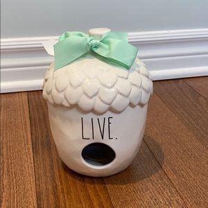 Rae Dunn by Magenta live ceramic birdhouse acorn
